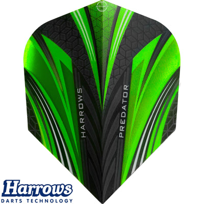 Dart Flights - Harrows - Predator - Standard Dart Flights Green