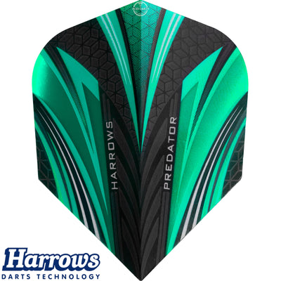 Dart Flights - Harrows - Predator - Standard Dart Flights Jade