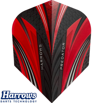 Dart Flights - Harrows - Predator - Standard Dart Flights Red