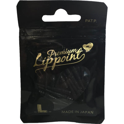 Soft Tip Accessories - L-Style - Premium Lip Point Soft Tip Dart Points - Bag of 30 Black