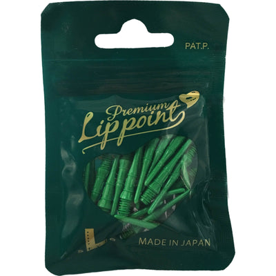 Soft Tip Accessories - L-Style - Premium Lip Point Soft Tip Dart Points - Bag of 30 Green