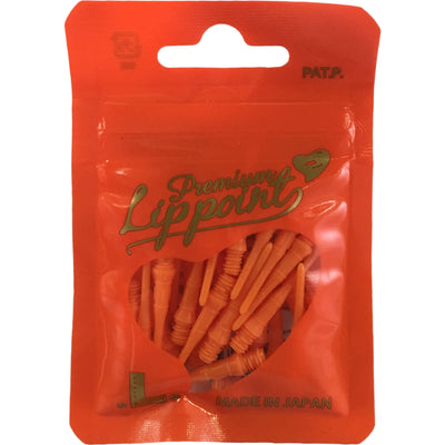 Soft Tip Accessories - L-Style - Premium Lip Point Soft Tip Dart Points - Bag of 30 Orange