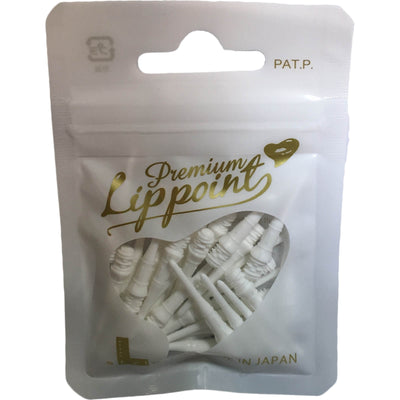 Soft Tip Accessories - L-Style - Premium Lip Point Soft Tip Dart Points - Bag of 30 White