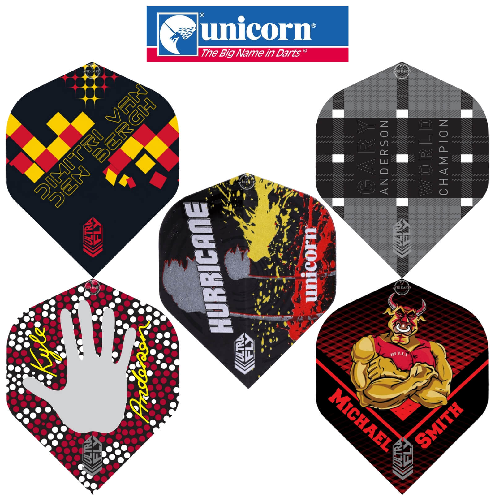 Dart Flights - Unicorn - Ultrafly Pro Player - Big Wing Dart Flights