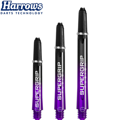 HARROWS Darts - Shafts - Supergrip Fusion-X Shafts - Short (35mm) / Purple