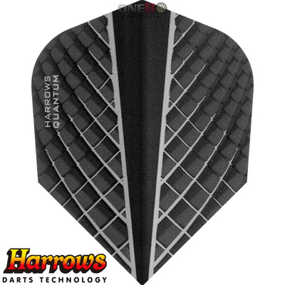 Dart Flights - Harrows - Quantum-X - Standard Dart Flights Black