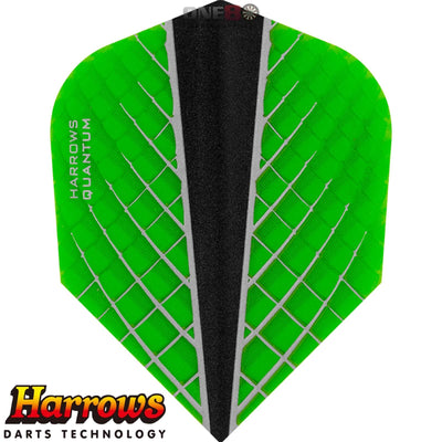 Dart Flights - Harrows - Quantum-X - Standard Dart Flights Green