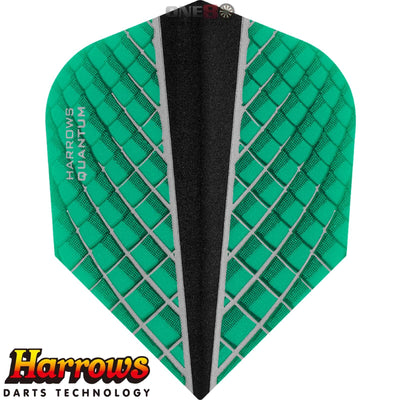 Dart Flights - Harrows - Quantum-X - Standard Dart Flights Jade