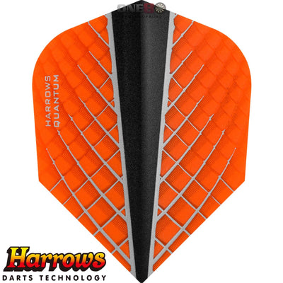 Dart Flights - Harrows - Quantum-X - Standard Dart Flights Orange