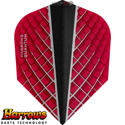 Dart Flights - Harrows - Quantum-X - Standard Dart Flights Red