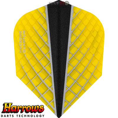 Dart Flights - Harrows - Quantum-X - Standard Dart Flights Yellow