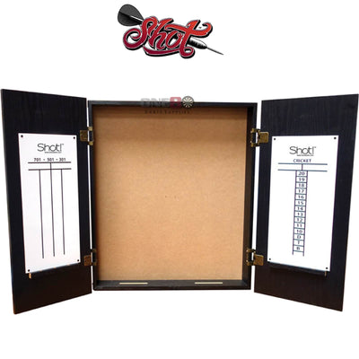 Dartboard Accessories - Shot - Quantum Wooden Dartboard Cabinet