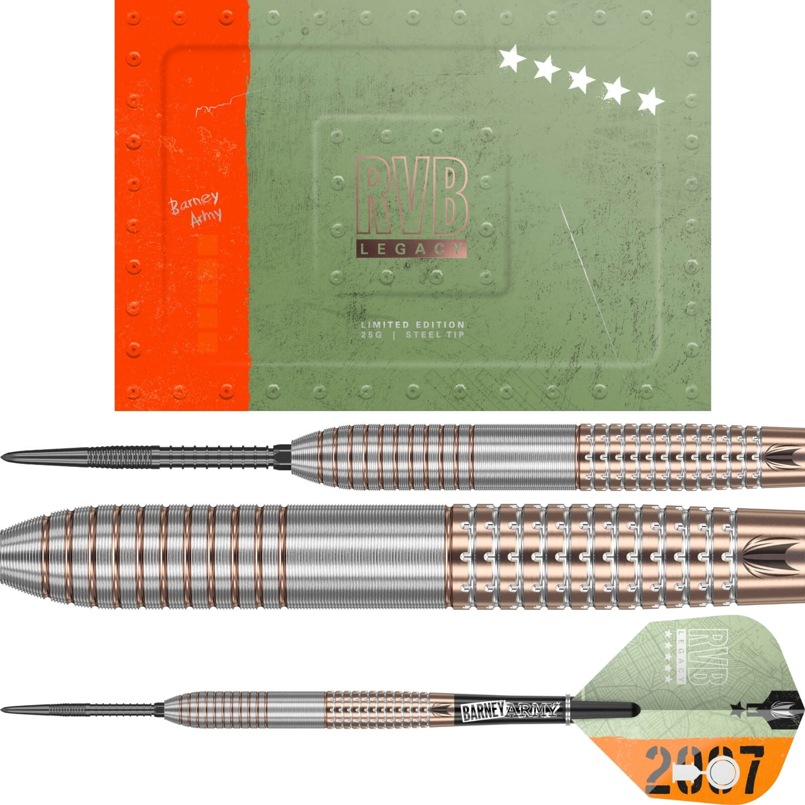 Darts - Target - RvB SP Legacy Darts - Limited Edition - Steel Tip - 95% Tungsten - 25g