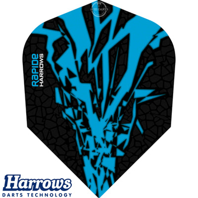 Dart Flights - Harrows - Rapide-X - Standard Dart Flights Aqua Blue