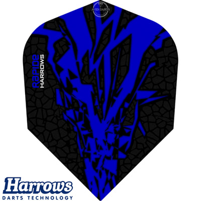 Dart Flights - Harrows - Rapide-X - Standard Dart Flights Dark Blue