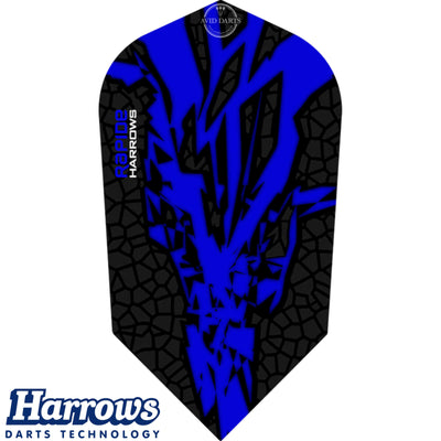 Dart Flights - Harrows - Rapide-X - Slim Dart Flights Dark Blue