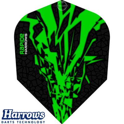 Dart Flights - Harrows - Rapide-X - Standard Dart Flights Green