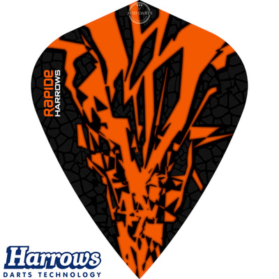 Dart Flights - Harrows - Rapide-X - Kite Dart Flights Orange