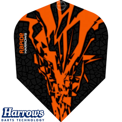 Dart Flights - Harrows - Rapide-X - Standard Dart Flights Orange