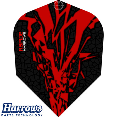 Dart Flights - Harrows - Rapide-X - Standard Dart Flights Red
