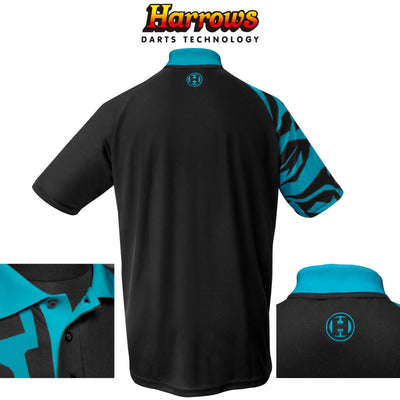 Dart Shirts - Harrows - Rapide Breathable Dart Shirts - S to 5XL S / Aqua