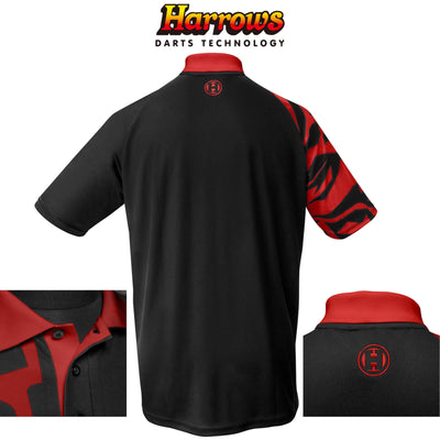 HARROWS Darts - Clothing - Rapide Breathable Dart Shirts - S to 5XL - S / Red