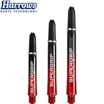 HARROWS Darts - Shafts - Supergrip Fusion-X Shafts - Short (35mm) / Red