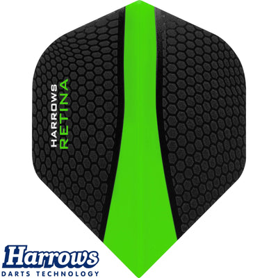 Dart Flights - Harrows - Retina - Big Wing Dart Flights Green