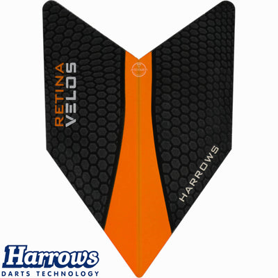 Dart Flights - Harrows - Retina - Velos Dart Flights Orange