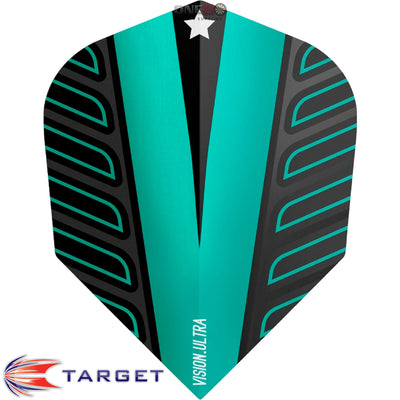Dart Flights - Target - Rob Cross Voltage - Standard Dart Flights Aqua