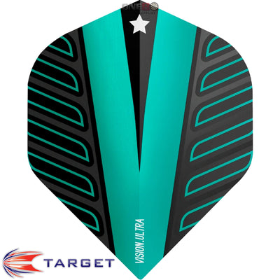 Dart Flights - Target - Rob Cross Voltage - Big Wing Dart Flights Aqua