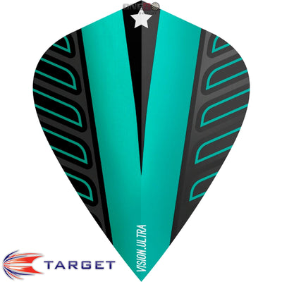 Dart Flights - Target - Rob Cross Voltage - Kite Dart Flights Aqua
