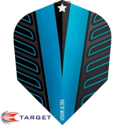 Dart Flights - Target - Rob Cross Voltage - Standard Dart Flights Blue