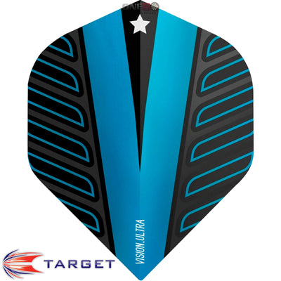 Dart Flights - Target - Rob Cross Voltage - Big Wing Dart Flights Blue