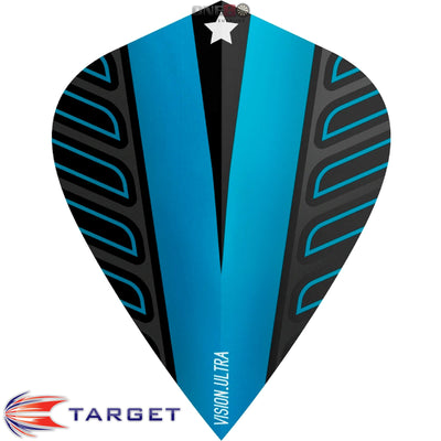 Dart Flights - Target - Rob Cross Voltage - Kite Dart Flights Blue