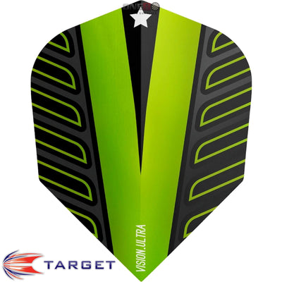 Dart Flights - Target - Rob Cross Voltage - Standard Dart Flights Lime Green