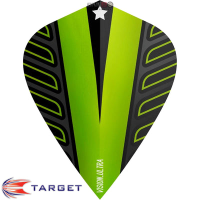 Dart Flights - Target - Rob Cross Voltage - Kite Dart Flights Lime Green