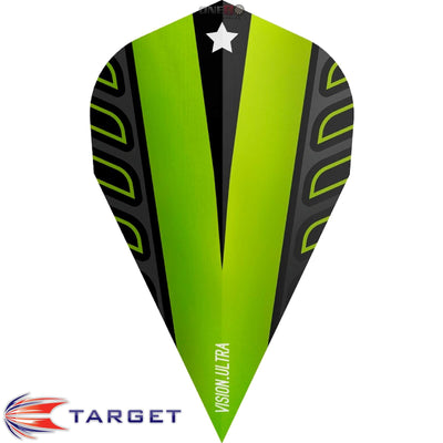 Target Darts - Dart Flights - Target - Rob Cross Voltage - Vapor Dart Flights - Lime Green