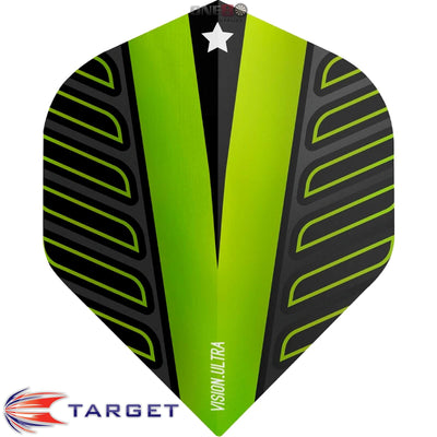 Dart Flights - Target - Rob Cross Voltage - Big Wing Dart Flights Lime Green