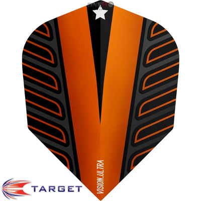 Dart Flights - Target - Rob Cross Voltage - Standard Dart Flights Orange