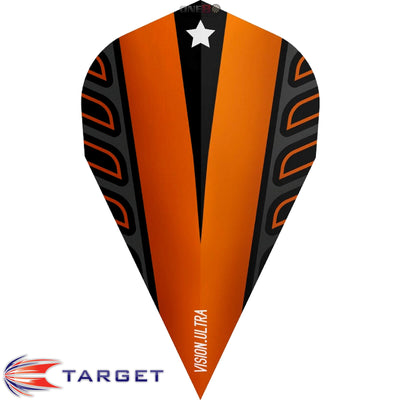 Target Darts - Dart Flights - Target - Rob Cross Voltage - Vapor Dart Flights - Orange