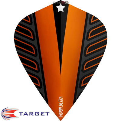 Dart Flights - Target - Rob Cross Voltage - Kite Dart Flights Orange