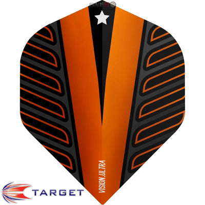 Dart Flights - Target - Rob Cross Voltage - Big Wing Dart Flights Orange