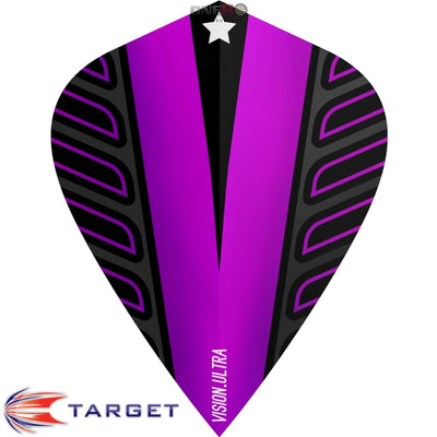 Dart Flights - Target - Rob Cross Voltage - Kite Dart Flights Purple