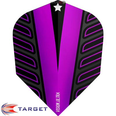 Dart Flights - Target - Rob Cross Voltage - Standard Dart Flights Purple