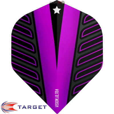 Dart Flights - Target - Rob Cross Voltage - Big Wing Dart Flights Purple