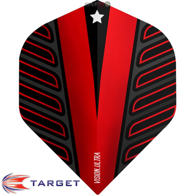 Dart Flights - Target - Rob Cross Voltage - Big Wing Dart Flights Red