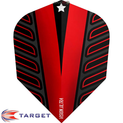 Dart Flights - Target - Rob Cross Voltage - Standard Dart Flights Red
