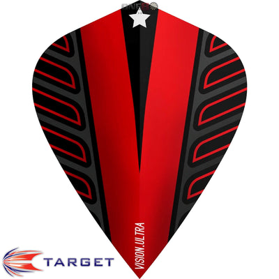 Dart Flights - Target - Rob Cross Voltage - Kite Dart Flights Red