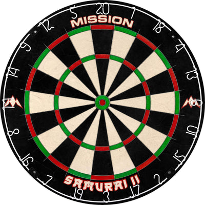 Dartboards - Mission - Samurai II Dartboard & Printed Surround Package